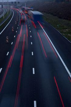 motorway at dusk