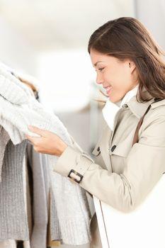 Clothes shop - woman shopping