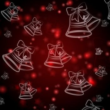 abstract red background with christmas bells