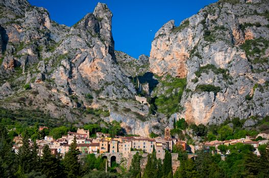 Moustiers Sainte Marie village in Provence