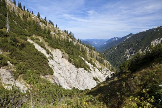 charming mountain range in Bavaria