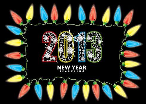 New year 2013 fairy lights