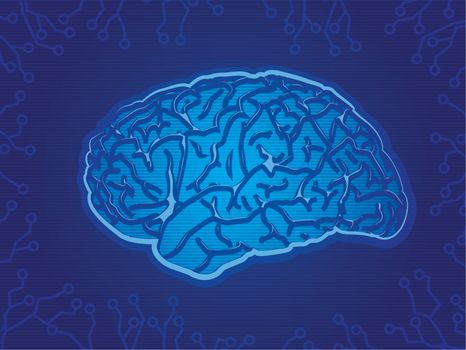 Blue Technology Brain