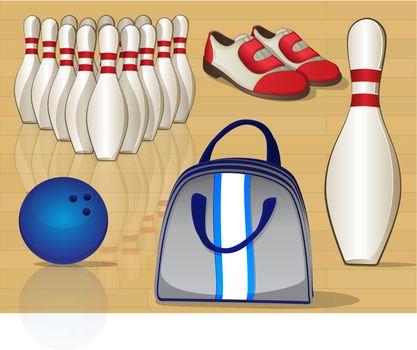 Bowling Equipment Icons
