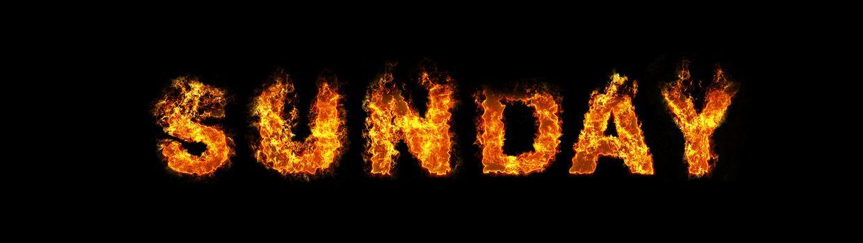 Sunday text on fire
