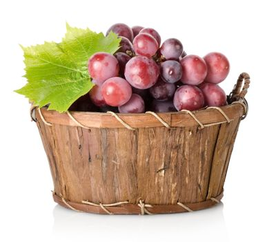 Blue grape with leaf
