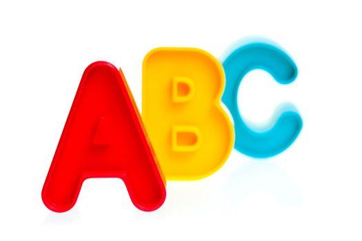 Plastic letters ABC