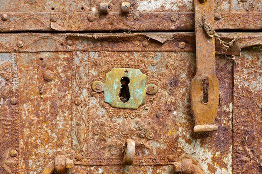 Old rusty keyhole