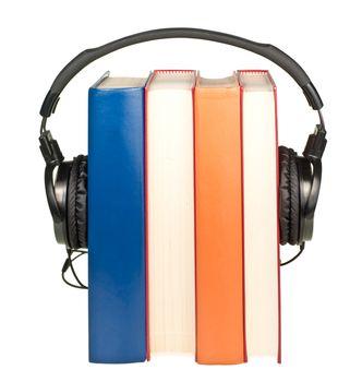 Books with  headphones