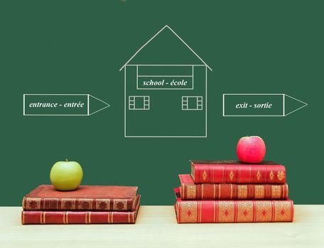 School, the fruits of knowledge, entrance, exit, leave more educated