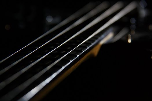 bass guitar with strings