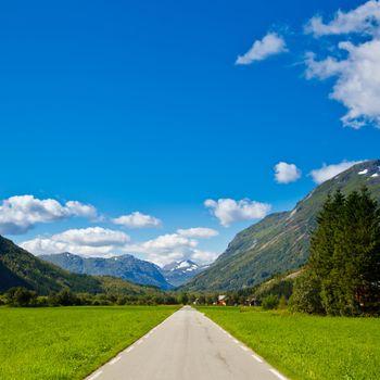 Empty mountain highway
