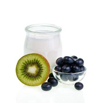 Yogurt with fruits