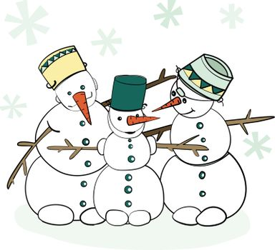 Humorous Winter Snowman