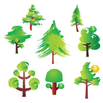 Various trees style Paint Brush