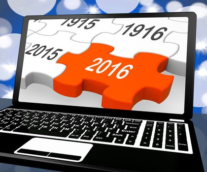 2016 On Laptop Shows Future Technology And Electronic Devices