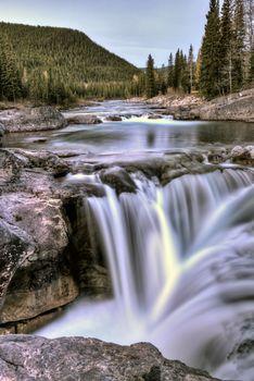 Bragg Creek Waterfall