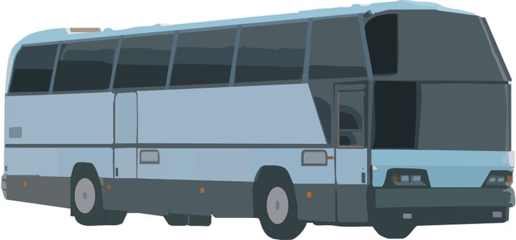 bus over white
