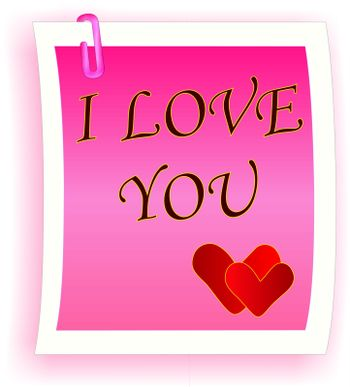 I Love You note