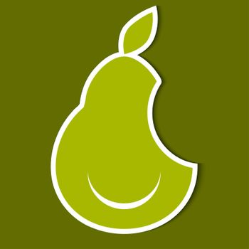 Humorous image of pear. eps10