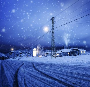 Blizzard in the village