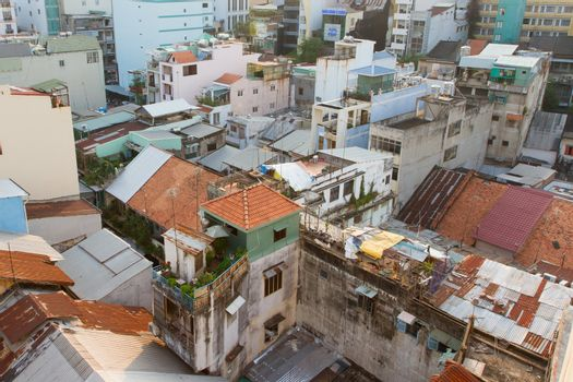 Part of the non commercial skyline of Ho Chi Minh City (Saigon)