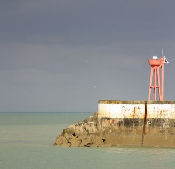 A beacon in a harbour