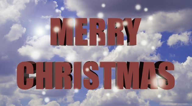 Merry Christmas with blue skies and sunshine.