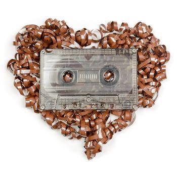 Heart shaped audio tape