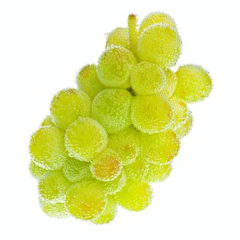 Grapes with bubbles