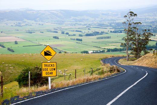 Winding road in New Zealand