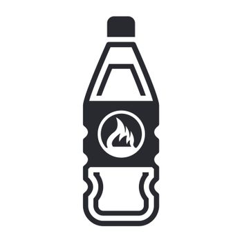 Vector illustration of flammable bottle icon