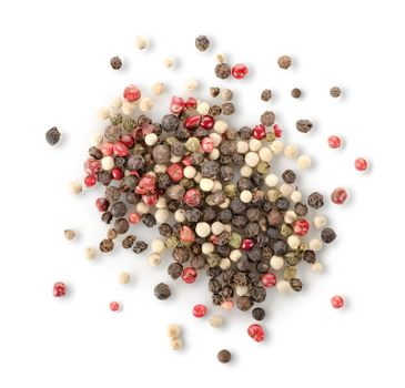 Spices of red and black pepper