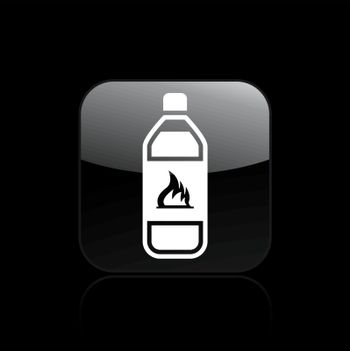 Vector illustration of isolated flammable bottle icon
