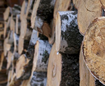Stacked Round Logs