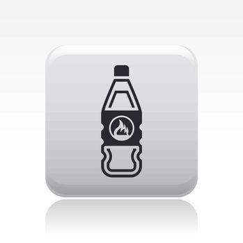 Vector illustration of single  flammable bottle icon