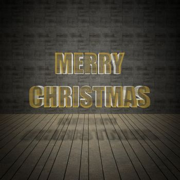 Merry Christmas with vintage wall