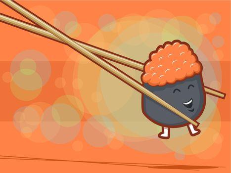 Smiiling Sushi Roll