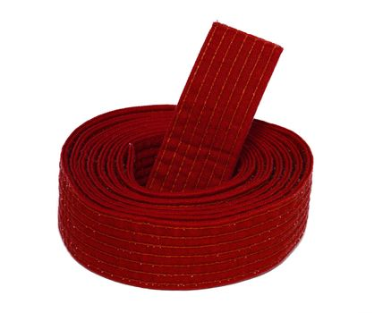 Coiled Karate Red Belt