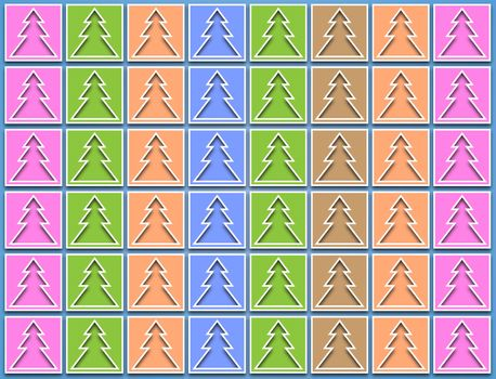 pastel icons Christmas trees
