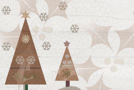 background Christmas tree  whit stars