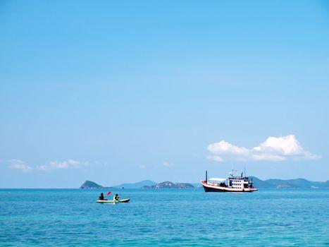 Enjoy boating at Ko Kham island, Sattahip, Chon Buri, Thailand