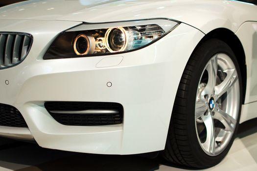 MUNICH - SEPTEMBER 19: New model BMW Z4 at BMW Welt Expo center on September 19, 2012 in Munich.