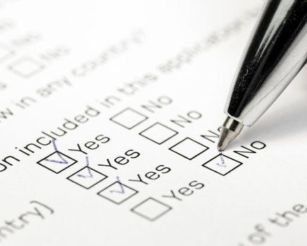 Answering survey