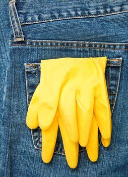 Gloves in a pocket
