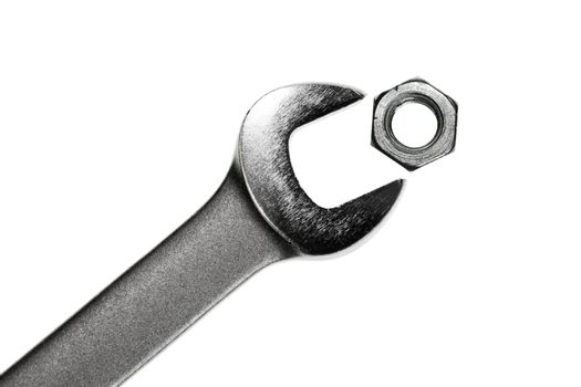 Wrench with nut