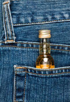 Bottle in a pocket