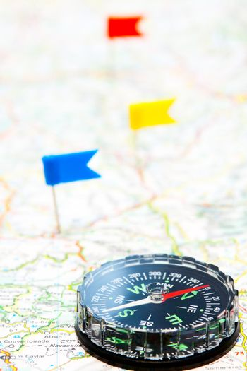 Navigation with compass
