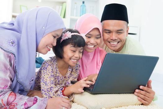Muslim family interaction