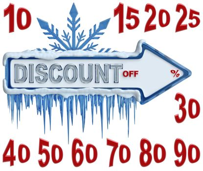 arrow label for sales with discounts